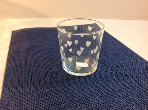 bicchiere cuoricini