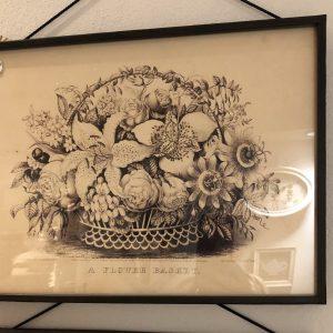 Blanc Mariclò Quadro con stampa floreale