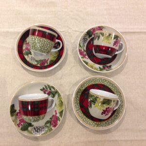 Brandani Set 2 mug in porcellana serie Sottobosco