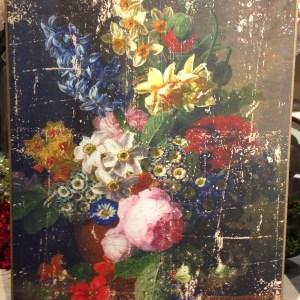 Blanc Mariclò Quadro a fiori fondo panna