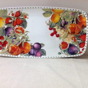 Brandani Piatto da portata ovale in porcellana serie Le Primizie