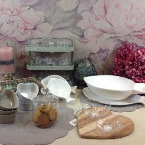 Côté Table ciotola a cuore in ceramica stoneware bianca