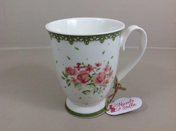 Nuvole di Stoffa Mug con rose serie Elisabeth