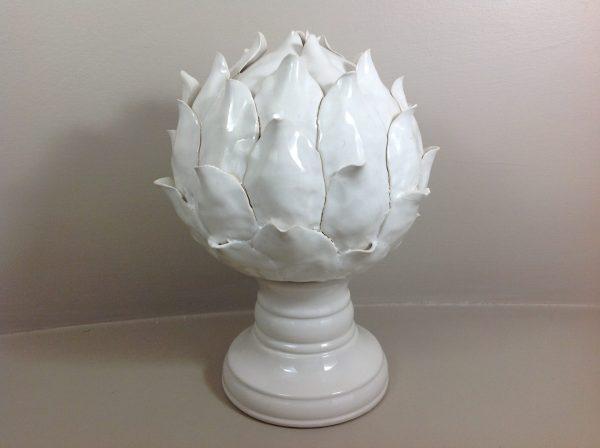Preziosa Luxury Pigna a carciofo in ceramica bianca