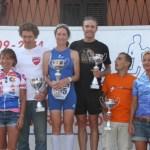 Il podio del 19° Triathlon Internazionale di Mergozzo