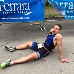 Andrea Pederzolli, stanco ma pienamente soddisfatto del suo successo all'Irondelta di Primavera 2016
