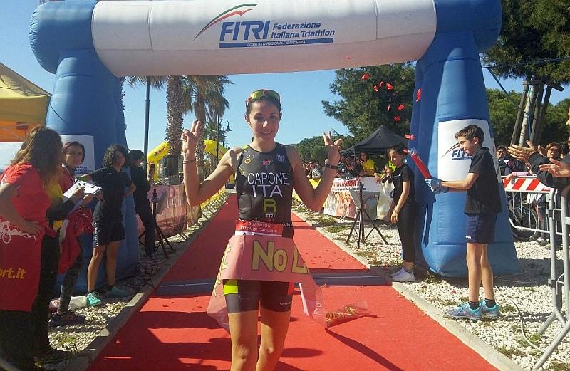 Alice Capone trionfa al Duathlon Città di Cagliari 2017