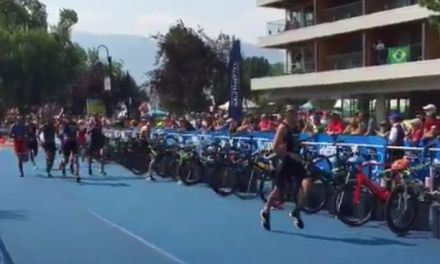 ITU Duathlon World Championships Elite/U23 men: un gruppetto al comando in T1