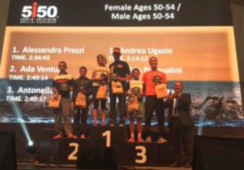 Categoria 50-54, ecco il podio uomini e donne del 1° 5i50 Cervia Triathlon Emilia Romagna