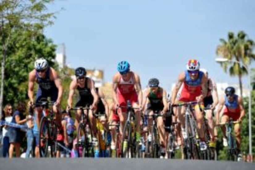Huelva ITU Triathlon World Cup 2017, gara maschile (Foto ©Triathlon.org)