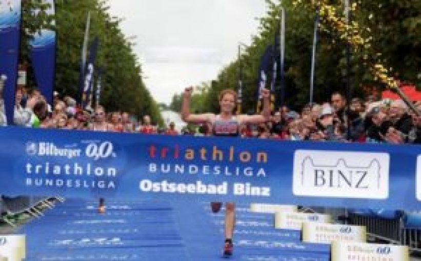 La svizzera Jolanda Annen vince il Triathlon Binz, 5^ tappa del cricuito Triathlon Bundesliga 2017