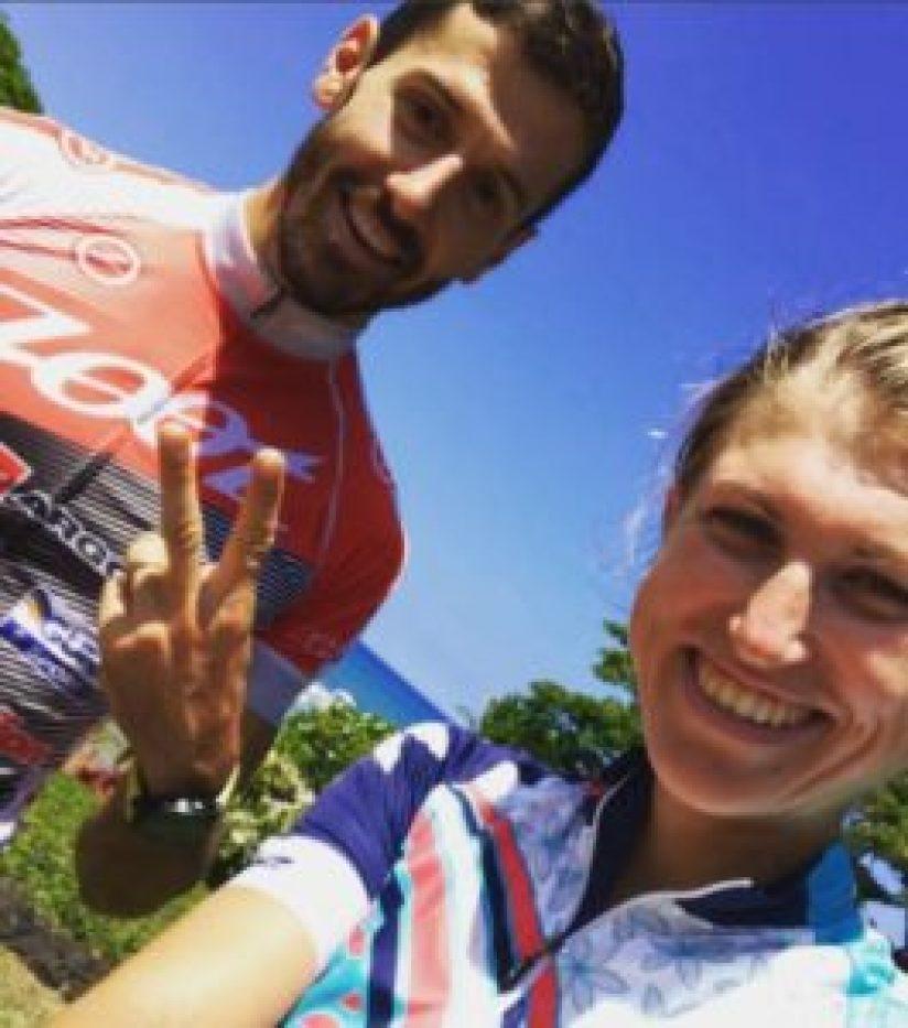 Aspettando l'Ironman Hawaii 2017: Federica De Nicola si concede un selfie con Giulio Molinari