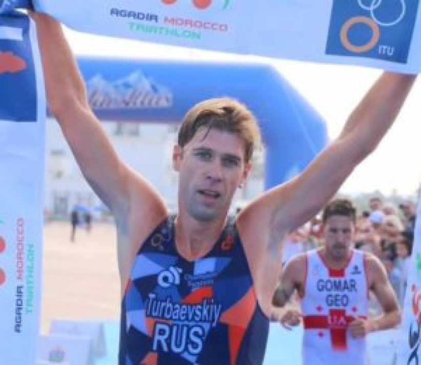 Il russo Vladimir Turbayevskiy è il più veloce all'Agadir ATU Triathlon African Cup 2017 (Foto ©Viviane's Logbooklet)