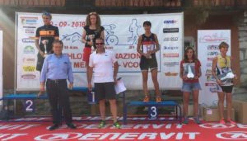 Teodolinda Camera (A.S. Virtus) vince il 23° Triathlon Internazionale di Mergozzo davanti a Lina Manzo (Chimera Triathlon) ed Elisabetta Mantoan (DDS).