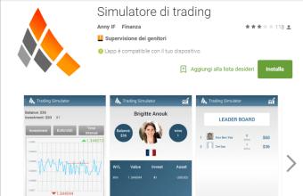 Piattaforma trading gratis, prova app di simulazione