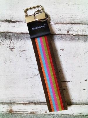 """Schlüsselband """"Stripes"""" (braun) von Mondspinne"""