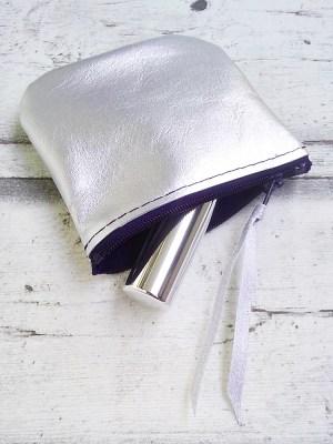 """Tasche """"Silber"""" (silber-marineblau) von Mondspinne"""