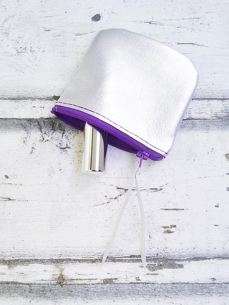 """Tasche """"Silber"""" (silber-violett) von Mondspinne"""