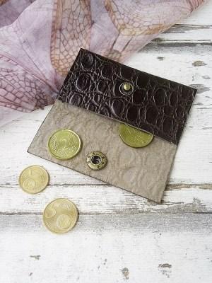 """Set: Clutch, Börse & Schlüsselanhänger """"Waran"""" (braun) aus Kalbsleder von MONDSPINNE"""