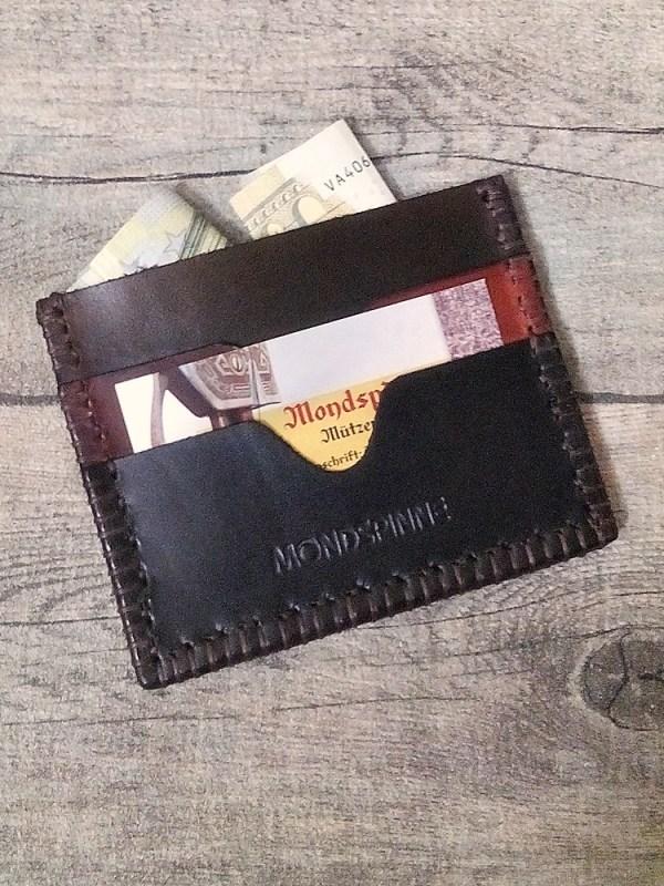 "Kreditkartenetui ""Daan"" (braun), aus vegetabil gegerbtem Rindsleder - MONDSPINNE"