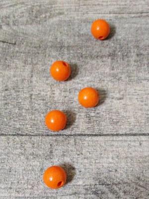 Holzperlen Holzkugeln 12mm Großloch Fädelloch 3mm orange - MONDSPINNE