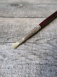 Pinsel Naturborsten Holz rotbraun Gesamtlänge 29,5 cm Borstenlänge 1 cm - MONDSPINNE