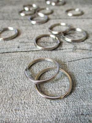 Schlüsselring Eisen 20mm silber Nr. 3020 - MONDSPINNE