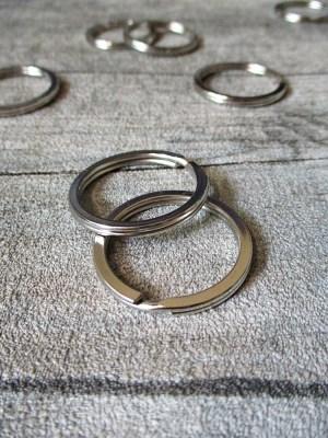 Schlüsselring flach Eisen 30mm silber vernickelt Nr. 3030 - MONDSPINNE
