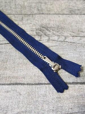 Reißverschluss dunkelblau altsilber 20 cm lang 2,7 cm breit YKK - MONDSPINNE