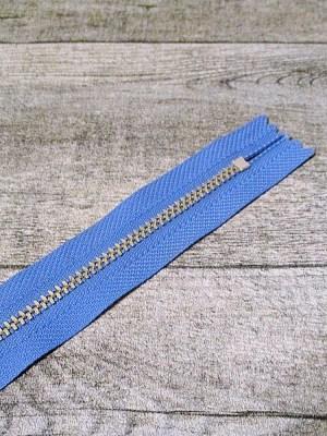 Reißverschluss himmelblau altsilber 18 cm lang 2,7 cm breit YKK - MONDSPINNE