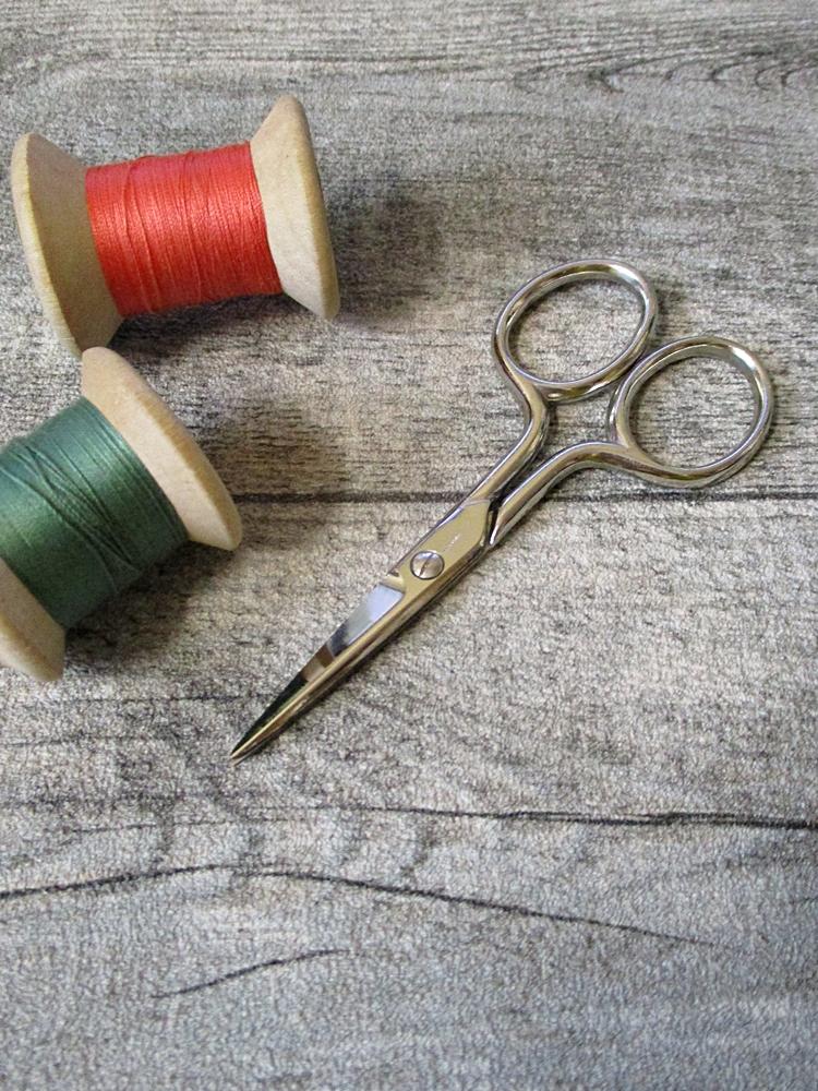 Stickschere Nähschere silber 9 cm - MONDSPINNE