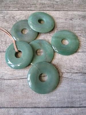 Aventurin Donut Scheibe grün 60 mm - MONDSPINNE