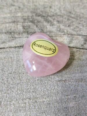 Rosenquarz Anhänger Herz rosa 23mm x 24mm - MONDSPINNE