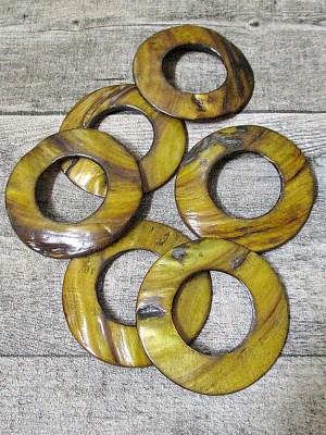 Donut Perlmutt goldbraun 60 mm Lochgröße 30 mm - MONDSPINNE