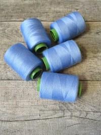 Garn Nähgarn Polyester helles Himmelblau 0,1 mm 400 m - MONDSPINNE