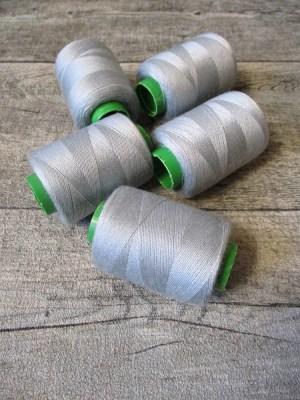 Garn Polyester silbergrau 0,1 mm 400 m - MONDSPINNE 06