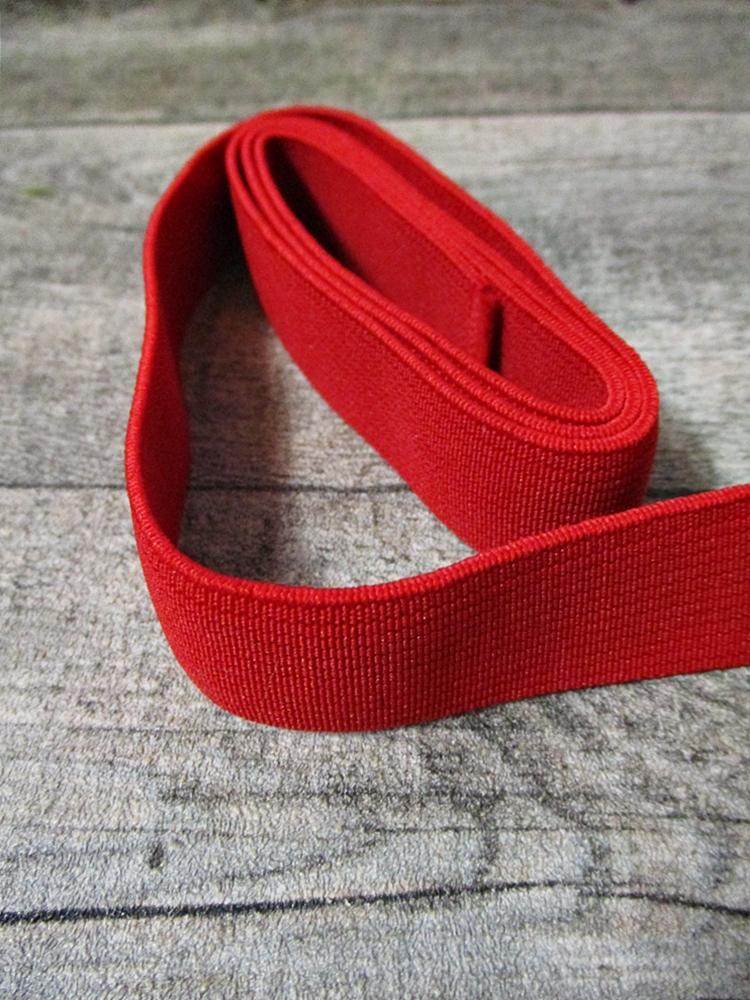 Gummiband Elastikband 2 cm Polyester Elastodien rot - MONDSPINNE