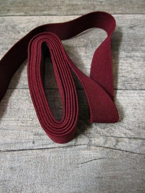 gummiband elastikband band rotbraun breite 2 cm. Black Bedroom Furniture Sets. Home Design Ideas