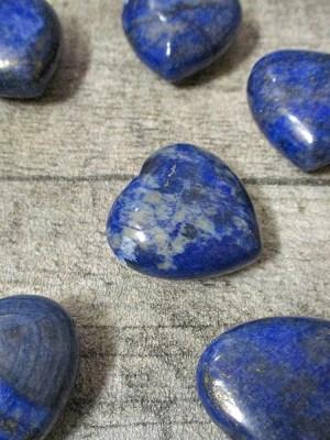 Lapislazuli Herz 25x25x13 blau gebohrt - MONDSPINNE