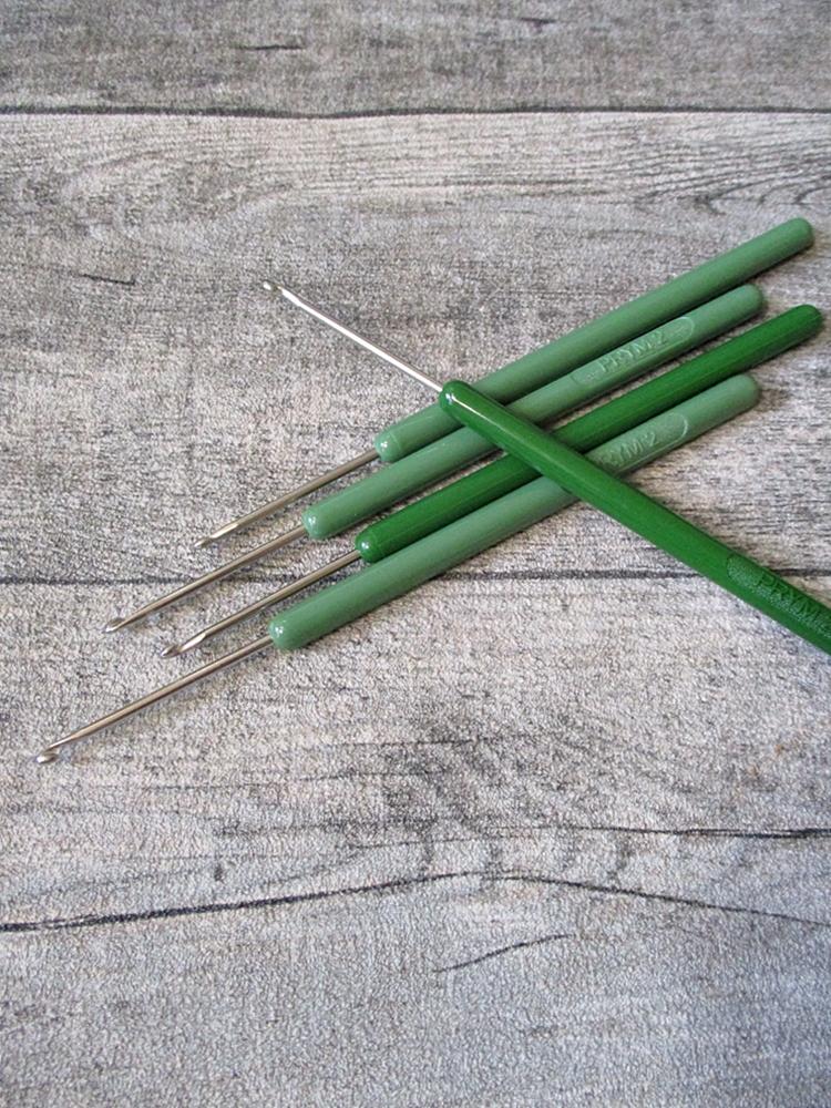 Häkelnadel Prym silber grün Stärke 2 137 mm - MONDSPINNE