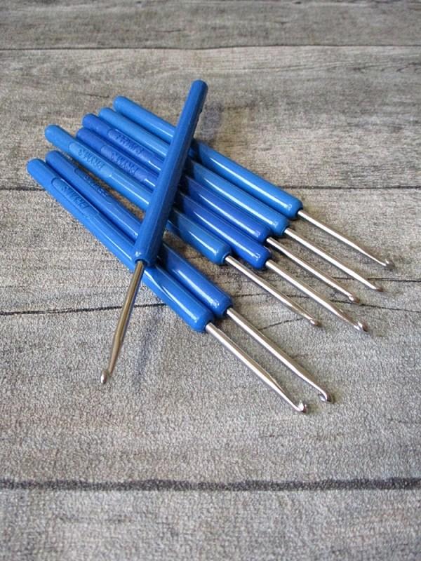 Häkelnadel silber blau Prym Stärke 3 139 mm - MONDSPINNE