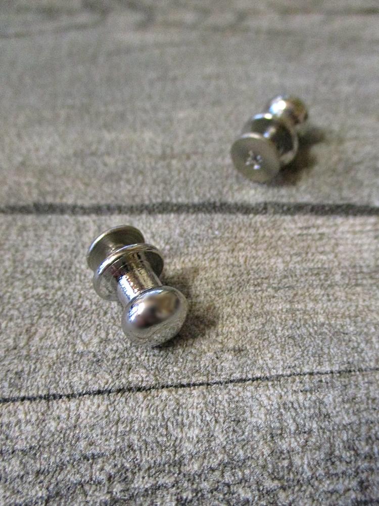 Knopfniete Kopfschraubniete Beiltaschenknopf Patronentaschenverschluss silber Metall 10x8 mm - MONDSPINNE