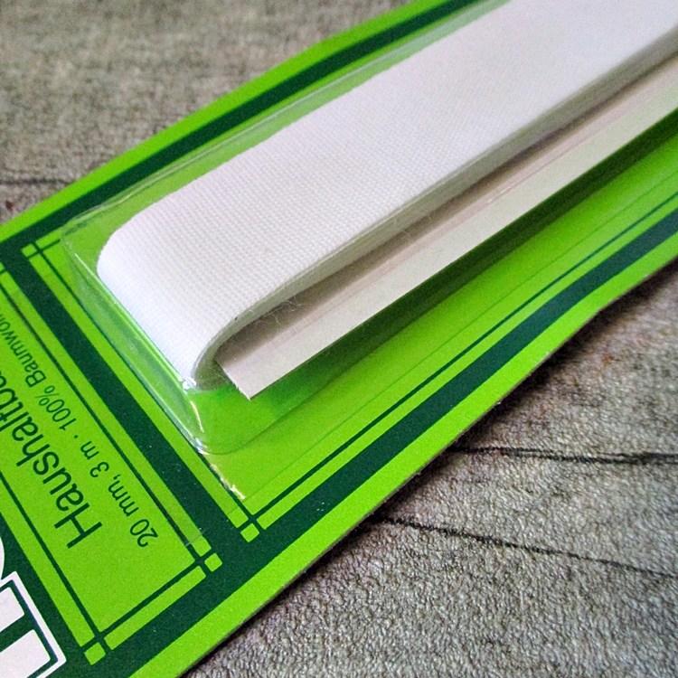 Haushaltsband weiß 20mm 3m Baumwolle - MONDSPINNE