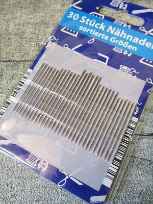 Nähnadeln Nadeln 30 Stück Set mehrere Größen - MONDSPINNE