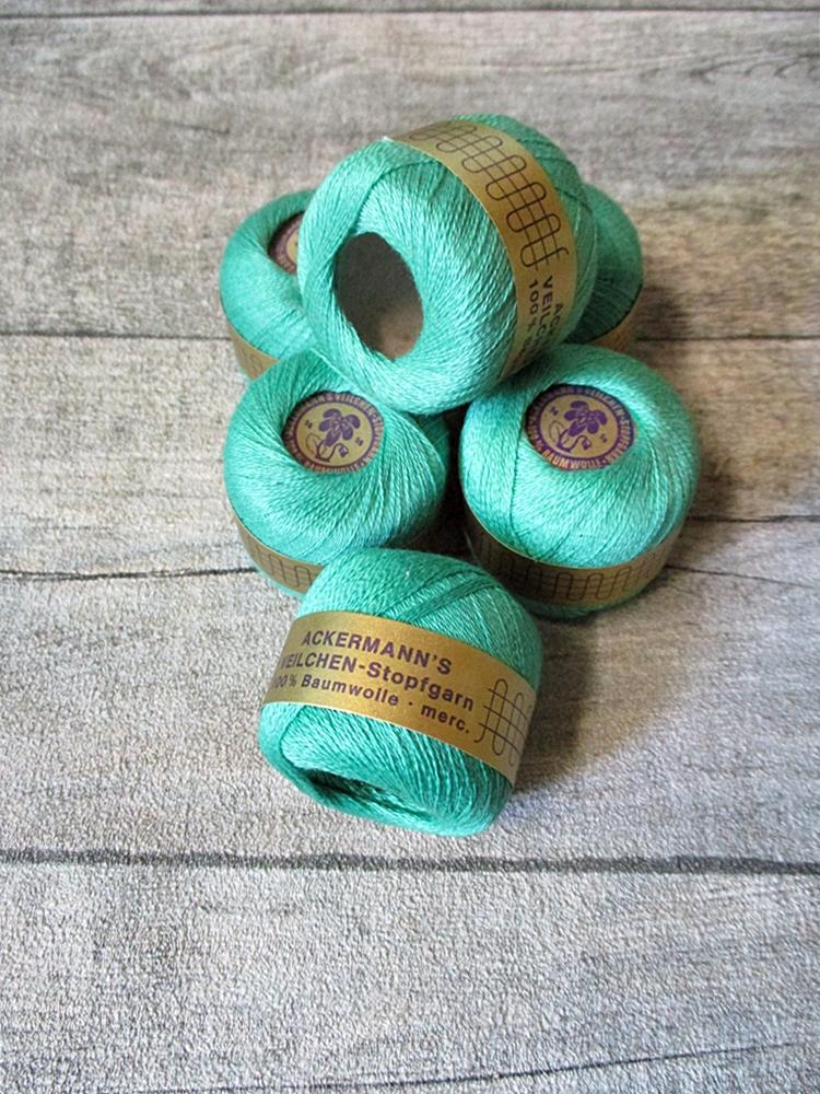 Veilchen-Stopfgarn Ackermann Baumwolle 20m 10g mintgrün - MONDSPINNE