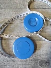 Maßband Bandmaß Metermaß Rollmaß Rollmaßband rund hellblau 150 cm springfix hoechstmass - MONDSPINNE