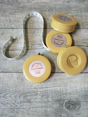 Maßband Bandmaß Metermaß Rollmaß Rollmaßband rund karamell 150 cm springfix hoechstmass - MONDSPINNE