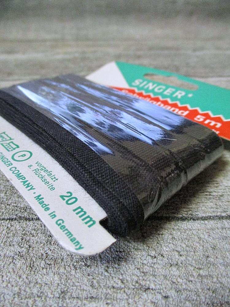 Schrägband Singer Baumwolle kochecht lichtecht 5m 20mm schwarz - MONDSPINNE