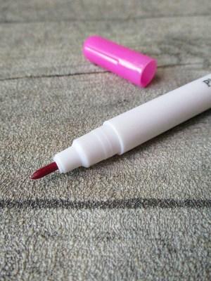 Textilmarkierstift Filzstift pink rosa wasserlöslich luftauflösend für Stoff - MONDSPINNE