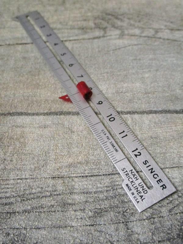 Maßschiene Näh- und Stricklineal 12 cm Metall Kunststoff Singer - MONDSPINNE
